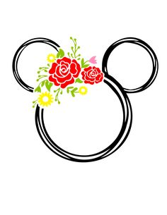 Mickey Mouse Floral Vinyl Decal – J and J Design Studio Mickey Mouse Design, Mickey Mouse Head, Mickey Mouse Stickers, Mickey Mouse Silhouette, Cricut Vinyl, Vinyl Decals, Wall Stickers, Wall Decals, Wall Art