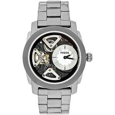 Fossil Men's Machine Stainless Steel Bracelet Watch Fossil adds an unexpected turn on the modern watch with this Machine collection timepiece. Modern Watches, Casual Watches, Cool Watches, Watches For Men, Stainless Steel Watch, Stainless Steel Bracelet, Skeleton Watches, Fossil Watches, Automatic Watch
