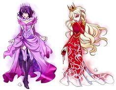 I switched their designs up a bit, so Raven is more princessy and Apple is more like an evil queen.