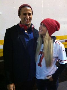 Colin Kaepernick and Lindsay Kaepernick (January 20, 2013)