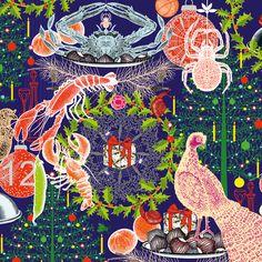 """""""Merveilleuse nature"""" un livre illustré par Michaël Cailloux et mis en verbe par Nathalie Béreau aux éditions Thierry Magnier. Michaël Cailloux, dont c'est le premier livre jeunesse, a développé des images fourmillantes de détails, à l'esthétique très proche du papier peint. Compositions, motifs, répétitions et bizarreries se croisent et s'entrecroisent. Ses illustrations invitent surtout à la rêverie. #noel #christmas"""