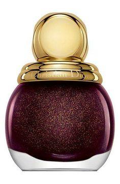www.stash.com.br - Oh la la. Sparkly, oxblood Dior Nail Lacquer.