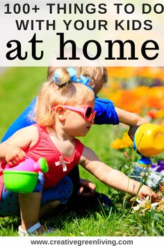 Stuck at home with your kids for the summer or for pandemic quarantine? Need ideas for things to do with your kids while they are out of school? Here are more than 100 ideas for things you can do inside, outside and safely social distancing to keep kids busy! #boredombusters #summeractivities #kidsactivities Green Crafts For Kids, Crafts To Do, Engage In Learning, Fun Learning, Craft Activities For Kids, Summer Activities, Organizing Stuffed Animals, Making Musical Instruments, Summer Fun For Kids