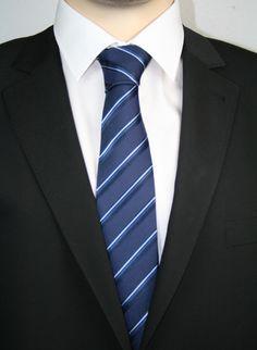 Casa Moda Krawatte extralang Navy Streifen Blautöne 352369802-100