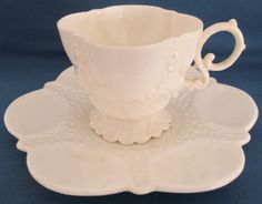ANTIQUE c1890s AYNSLEY WHITE BELLEEK STYLE TEA SET INC TEAPOT VICTORIAN ENGLAND | eBay