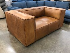 "A beautiful set of Bonham Leather Collection pieces on their way home to Long Beach, Washington. This customer created a set including 6ft and 7ft Bonham Leather Sofas in our 41"" depth paired with a roomy 47 inch deep Bonham Leather Chair with Ottoman. The leather is Italian Berkshire Chestnut, a Full Grain, Full Aniline Oiled pull-up leather from Italy Learn More: https://www.leathergroups.com/blog/bonham-leather-sofas-with-chair-and-ottoman-in-italian-berkshire-chestnut"