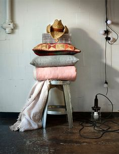 Industrial decor and soft textiles
