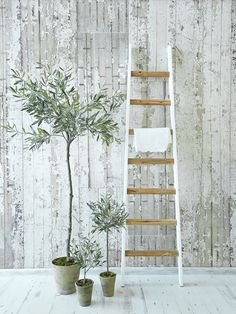 Much lovelier than a towel rail and far nicer than a wardrobe, this wooden ladder looks stunning in your bathroom or as a safe place to hang a favourite vintage frock in your bedroom.