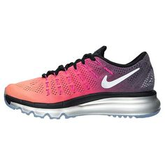 sports shoes 692cd f9a17 Nike Air Max 2016 Premium Womens Running Shoes Sunset 810886-006  Black/Reflect Silver