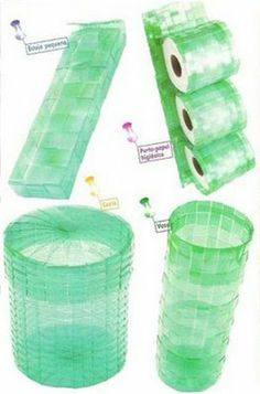 How to Make Pet Bottle Basket - Craft Videos Reuse Plastic Bottles, Plastic Bottle Crafts, Recycled Bottles, Upcycled Crafts, Recycled Art, Diy And Crafts, Diy Recycle, Recycling, Basket Crafts