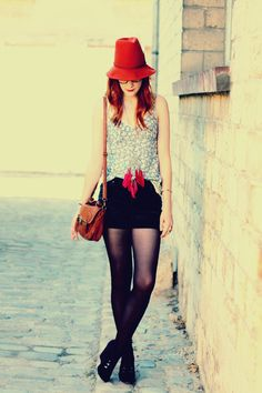 pretty red hat.