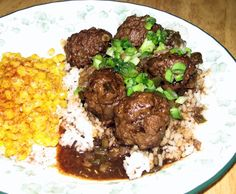 Cajun Meatball Stew is a very popular recipe in the Cajun part of South Louisiana. This is basic Cajun cooking. Cajuns love rice and gravy! This Cajun Meatball Stew Recipe is great served with rice and toasty French bread. Louisiana Recipes, Cajun Recipes, Beef Recipes, Cooking Recipes, Creole Recipes, Haitian Recipes, Beef Meals, Donut Recipes, Recipies