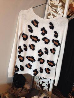 Ella Moss leopard sweater hemline lafayette