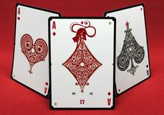 """No.17 """"Le Chat Rouge"""" - Poker Size Playing Cards by Requiem Team"""