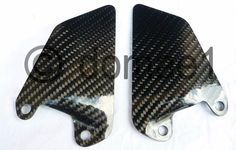 carbon fiber heel plates guard rider front Ducati 750 800 900 1000 SS Supersport | eBay