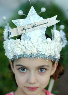 French Joyeux Anniversaire  Happy Birthday  Crown by Joosycardco