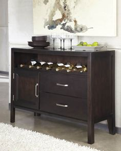Trishelle Brown Wood Dining Room Server