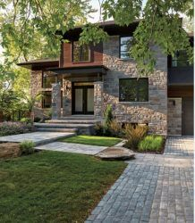Small House Design, Dream Home Design, Modern House Design, Modern House Facades, Modern Architecture, Chalet Modern, Luxury Homes Dream Houses, Dream House Exterior, Stone Houses