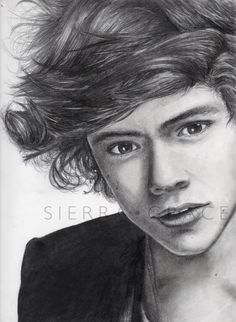 Harry Styles of One Direction / Pencil Drawing by Sierra from InfiniteMint