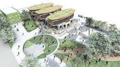 Resultado de imagen para centro cultural planos