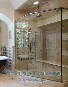 Using only high-end shower hardware, with finishes that will never fade or tarnish, Central Glass will make your new glass shower enclosure will be maintenance free for years