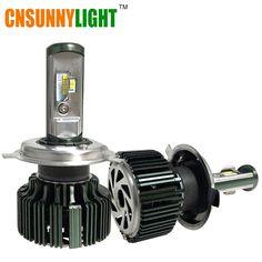 CNSUNNYLIGT CSP LED H4 H7 H11 H13 H1 9005 9006 9004 9007 H3 HB3 HB4 80W 8000lm Car LED Headlights Bulb Fog Light 6000K 12V 24V