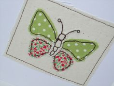 Butterfly Card Machine Embroidered Greeting Card by Nikelcards cards fabric Items similar to Butterfly Card - Machine Embroidered Greeting Card - Applique - Handmade Card - Blank Card - Card for a Girl - Wife - Girlfriend - Mum - Mom on Etsy Freehand Machine Embroidery, Free Motion Embroidery, Free Machine Embroidery, Creative Birthday Cards, Homemade Birthday Cards, Butterfly Cards Handmade, Greeting Cards Handmade, Fabric Postcards, Fabric Cards