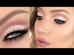 'Pretty in Pink' Glitter Cut-Crease (GOOD for HOODED EYES TOO!!) - YouTube