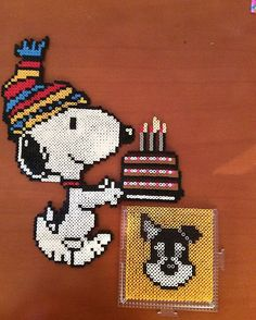 Snoopy perler beads by temmianna