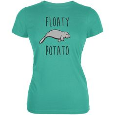Floaty Potato Manatee Teal Juniors Soft by AnimalWorldGifts