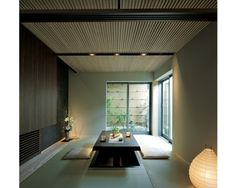 積水ハウス「坪庭を楽しむ和室」 Cafe Japan, Zen Style, Gym Room, Japanese House, Cottage, Living Room, Table, Furniture, Arch