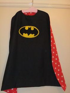 Reversible Superhero Cape Tutorial for boys and girls inc 'no sew' version!