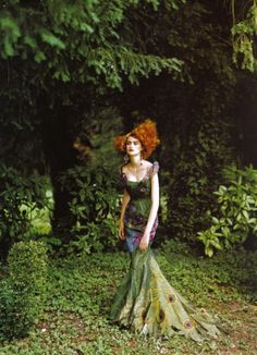 emariam:    'Couture's Glorious Excess'Christian Dior Haute CouturePhoto by Peter LindberghVogue magazine/ scanned by me