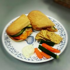 Baked Subs w/ Veggies and Dip! <3