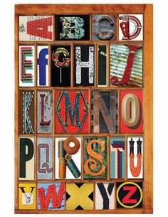 Alphabet No. 128 California Type Case.