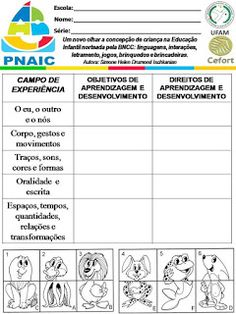 Atividades Escolares: VAMOS PLANEJAR: NOVA BNCC SEM COMPLICAÇÕES Nova, Education, Mascara, 1, Activities For Students, Daycare Lesson Plans, Note Cards, Lets Go, Mascaras