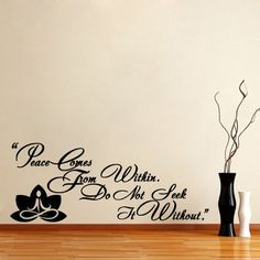 Housewares Vinyl Decal Yoga Buddha Quote Peace Home Wall Art Decor Removable Stylish Sticker Mural Unique Design for Any Room Decal House http://smile.amazon.com/dp/B00GYYPFN8/ref=cm_sw_r_pi_dp_7Absub1E99NRD