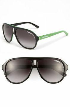 Óculos Carrera Women s Eyewear 59mm Aviator Sunglasses Black Green Grey  Gradient  Oculos  Carrera Black d7ceb132da