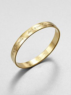 "Kate Spade New York ""This Is The Year To"" Bracelet - this seems fitting :)"