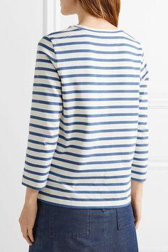 A.P.C. Atelier de Production et de Création - Dream Striped Cotton Top - Blue - small