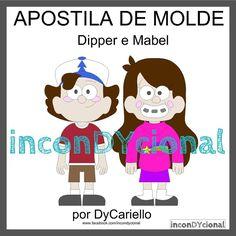 >> Apostila digital de moldes DIPPER E MABEL [conforme imagem], para ser feito em feltro/tecido.  >> Vem com os personagens que estão na imagem! Nesta mesma posição! http://incondycional.iluria.com/pd-417a80-apostila-digital-de-moldes-dipper-e-mabel.html?ct&p=1&s=1