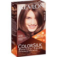 revlon colorsilk beautiful color permanent liquid hair color brown - Belle Color Acajou