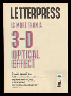 Letterpress 3D poster by SOLETTERPRESS on Etsy, €18.00