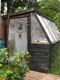 Hmmm, an artist shed? I'm debating on whether to have an art studio in the house or a separate studio out in the backyard Magniza Studio Hangar, Artist Shed, Outdoor Spaces, Outdoor Living, Outdoor Office, Studio Shed, Art Studio Room, Studio Studio, Tiny Studio