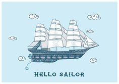 Hello Sailor by PHEXdesigns on Etsy