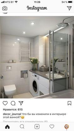 16 ideas for bathroom makeover small floors Bathroom Mirror With Shelf, Narrow Bathroom, Bathroom Floor Tiles, Laundry In Bathroom, White Bathroom, Bathroom Interior, Laundry Room Design, Bathroom Design Small, Bathroom Layout