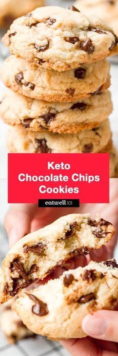 Keto chocolate chip cookies - These low carb cookies are a perfect recipe to mak. CLICK Image for full details Keto chocolate chip cookies - These low carb cookies are a perfect recipe to make for any occasion, they tak. Keto Cookies, Cookies Et Biscuits, Keto Biscuits, Almond Cookies, Pumpkin Cookies, Shortbread Cookies, Sugar Cookies, Keto Chocolate Chip Cookie Recipe, Keto Chocolate Chips