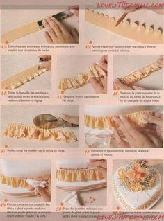 Как красиво украсить боковые стороны торта - Мастер-классы по украшению тортов Cake Decorating Tutorials (How To's) Tortas Paso a Paso