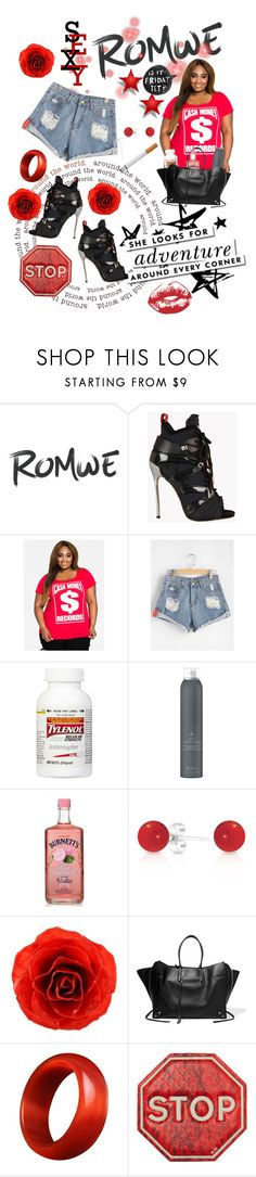 """""""Romwe-$exy & $porty"""" by ericjen8685 ❤ liked on Polyvore featuring Dsquared2, Ashley Stewart, Drybar, Bling Jewelry, NOVICA, Balenciaga, Kate Spade, Anya Hindmarch and plus size clothing"""