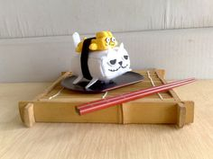 Rabbit Tamago Sushi Cat Magnet by zeropumpkin on Etsy, $16.90